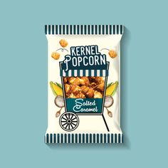 KERNEL'S POPCORN Designed by Protos Packaging Limited via: www.thedieline.com