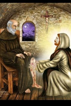 St Peregrine (the Cancer Saint) healed by Jesus