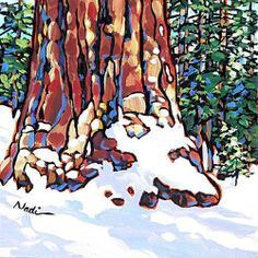 """No. 13/17 Big Tree"" - Original Fine Art for Sale - © Nadi Spencer"
