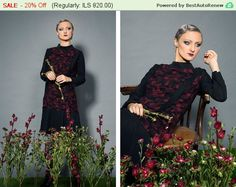 Flapper Dress / Gatsby Dress / Burgundy Dress / by TangensDesigns