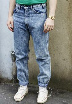 Straight Fit Acid Wash Jeans Vintage | Men's Fashion | Pinterest ...