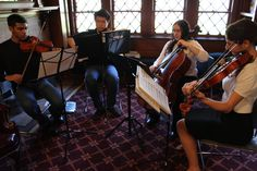 A very warm thank you to the talented Ward Melville High School students - Rajiv Moturu, Thomas Li, Kathryn Forcone, and Ariella Napoli - for playing at our Local Authors Reception on Sunday.