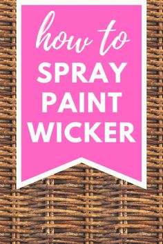 Do you have some old wicker that you want to paint? In this post, I will show you exactly how you should paint your wicker, whether you are painting baskets or wicker furniture that needs a facelift. Spray Painted Baskets, Spray Paint Wicker, Painted Wicker, Old Wicker, Wicker Baskets, Spray Painting, Painting Tips, Painting Wicker Furniture, Painted Furniture