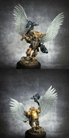 40k - Space Marine Blood Angels Commander Dante by rc555