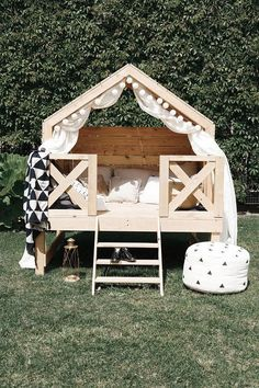 Luxury Play House Beach Bungalow Outdoor Playhouse Unique Furniture Kids Outdoor Furniture Small Home Montessori Bed Tiny House Luxury Play House Beach Bungalow Outdoor Playhouse Unique Furniture Kids Outdoor Furniture Small Home Montessori Kids Outdoor Furniture, Diy Garden Furniture, Unique Furniture, Kids Furniture, Rustic Furniture, Bedroom Furniture, Furniture Stores, Furniture Design, Furniture Market