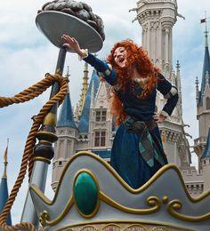 Merida in the Festival of Fantasy Parade in Walt Disney World, Florida. Disney Princesses, Disney Characters, Fictional Characters, Merida Disney, Festival Of Fantasy Parade, Happy International Women's Day, Disneyland Paris, Ladies Day, Walt Disney World