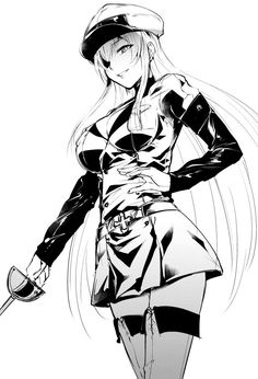 Akame ga KILL!,Anime,аниме,esdeath,Monochrome (Anime),Anime Art,Аниме арт, Аниме-арт