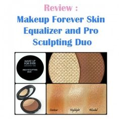http://www.pintalabios.info/en/reviews/view/en/5 New #review on pintalabios.info Makeup Forever Skin Equalizer and Pro Makeup Forever Skin Equalizer and Pro Sculpting Duo Review  The new Makeup Forever Pro Sculpting Duo's are a unique, talc free, gel powder formula allowing for a remarkable natural look that blends seamlessly for a weightless sculpting formula contains skin-enhancing ingredients, to smooth and perfect the skin for a silky, radiant, naturally defined in two shades, Light with…