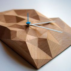 "12"" Block Clock: Maple from Such and Such"