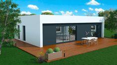 Projet Maison Ossature Bois : à la recherche du bon constructeur ... - Carolyne's Home Villa, Up House, Small House Plans, Facade, Cottage, House Design, Architecture, Building, Outdoor Decor