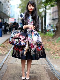 Oversized and abstract florals.