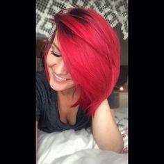 Bright @pulpriot red Ariel hair ❤ done by Manda Heath @salamanda21