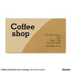 Coffee shop bistro bar roasting buisnness pack of standard business cards
