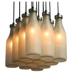 Check out the deal on Milk Bottle Chandelier at Eco First Art