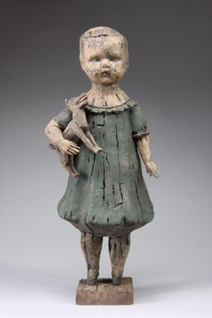 Margaret Keelan sculptures, made of clay, stains and mixed media