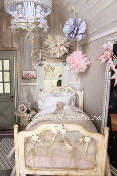 Bedspread, Bed, Ceiling Poufs, Chandelier...Love it!