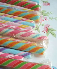 Old Fashioned Candy Sticks: I like having bunches of them in vases around my home. They're like flowers that never wilt☺