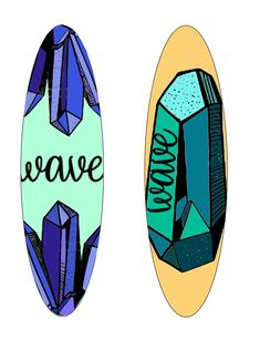 5th personal wave surfboard designs, using online vectors