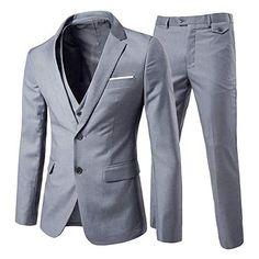 443d54c6b5f2 MAGE MALE Men's 3 Pieces Suit Elegant Solid One Button Slim Fit Single  Breasted Party Blazer Vest Pants Set at Amazon Men's Clothing store:
