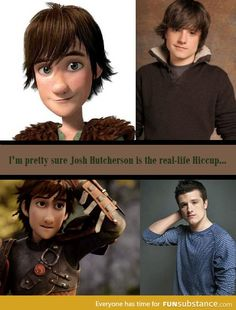Josh Hutcherson is the real-life Hiccup! :O