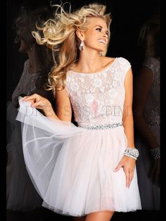 Buy Classic A-line Scoop Natural Waist Beading Short/Mini Lace Homecoming dress HD-9746 Homecoming Dresses under $119.99 only in DressesTime...