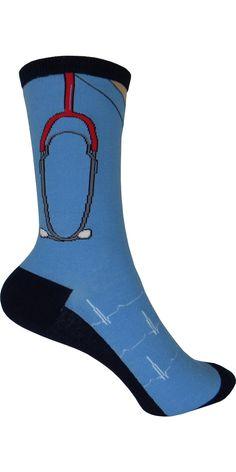 Scrubs Crew Socks in Blue
