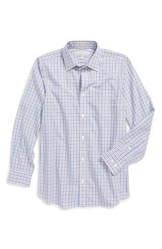 Nordstrom Smartcare™ Wrinkle Free Check Poplin Dress Shirt (Big Boys) available at #Nordstrom