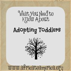 What You Need to Know About Adopting Toddlers. -this would have been helpful to know years ago.