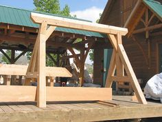 Morgan's timber frame swing set