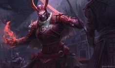 Demon Samurai, Jason Nguyen on ArtStation at https://www.artstation.com/artwork/8RV9m