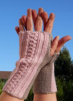 images about CrochetArmwarmers, Gloves, Mittens