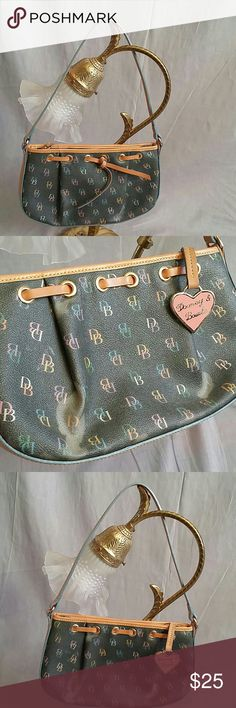 "Dooney & Bourke Purse multi-colors Small Leather Women's Purse there's some sign of being used see the pictures but everything it's good leather straps the body is fabric i  think it's coated with plastic. Measurements strap Drop 8.5"" height 6.5"" Length 10"". Dooney & Bourke  Bags Mini Bags"