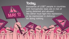 International day against homophobia biphobia & transphobia - Bing Images