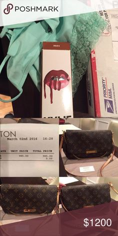 "I was/ about to get scammed! I got this for that! Sooo! I did a trade with @motay88 and I sent her my Authentic Favorite MM crossbody bag and I got these items in return! Thank god for ""following your gut"" moments I was able to do my research on Saturday and was able to intercept my package! I am soooo haaappyyy and very thankful to God! I lost $25 for purchasing the label through poshmark and the interception fee but I much rather lose $25 than my $1,000+ I spent on my favorite! Never will…"