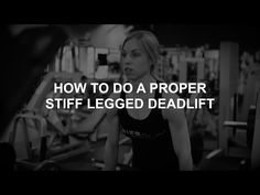 """HOW TO DO A PROPER STIFF LEGGED DEAD LIFT - When you think of developing and strengthening your backside from head to toe (literally), you should definitely be thinking of and incorporating stiff legged dead lifts! When form and technique is correct, this is one of the top, most effective exercises you can do. Any and every solid workout program should have stiff legged dead lifts in it. Take a peak to learn some """"do's and don'ts"""" with these effective stiff legged dead lifts!"""