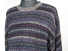 Croft And Barrow Winter Style Sweater Mens Size Large L Multicolor Crewneck #CroftBarrow #Crewneck