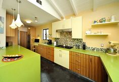 Home Design and Interior Design Gallery of Amazing Green Inspired Kitchen