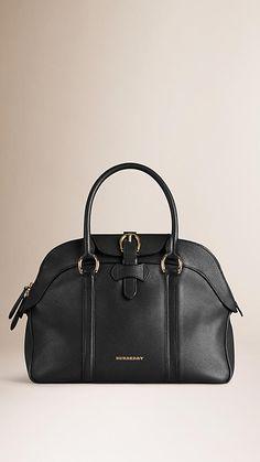 Burberry - Black Medium Leather Bowling Bag Bowling Bags d5f2b3cb562dc