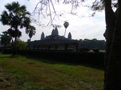 City over the rainbow. Angkor Wat is a huge temple of 1.3 km from north to south, east to west 1.5 km, is surrounded by a moat of a width of 200 meters.  Angkor Wat temple is an enormous area...