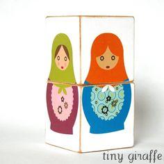 JUMBO Matryoshka Doll Wooden Children's Nesting by tinygiraffeshop, $15.00