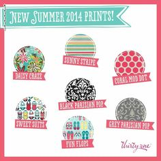 New Patterns! Summer 2014  ~ Thirty One Gifts www.mythirtyone.com /LindseyMonroe