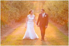 Stunning image from Kevin and Anna Photography of a bride & groom at Evan's Orchard in Georgetown, KY.