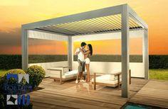 Los techos para pergolas con lamas orientables cumplen la misma función que los toldos horizontales. Ahorra espacio y gana calidad con Tolder.