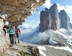 """Hiking and History in Italy. Here among the jagged peaks and sheer pastel walls of this ancient range of the Alps, where many cultures had coexisted for centuries, soldiers on both sides built networks of bolted-down steel cables, called via ferrata (iron path), to move supplies quickly—and for other missions, too. """""""