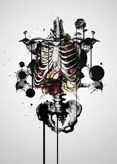 lost within — art-tension: Benson Koo Wal Art, Skeleton Art, Medical Art, Anatomy Art, Gothic Art, Skull Art, Art Inspo, Fantasy Art, Art Projects