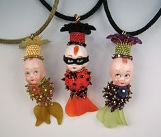 Vintage Kewpie Pendants by Diane Hyde LOVE!! LOVE!! Love these adorable Kewpie Pendants!! Diane does it again!!!!
