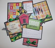 TPHH Boy or Girl  Premade Scrapbook Back to School Page mat set by Khearts1