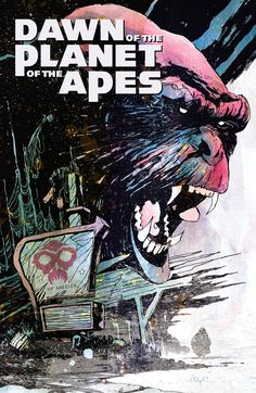 "DAWN OF THE PLANET OF THE APES #2 (of 6) Retail Price: $3.99 Author: Michael Moreci Artist: Dan McDaid Cover Artists: A:  Christopher Mitten B: ""Human Nation"" Graffiti Design  - INCENTIVE"