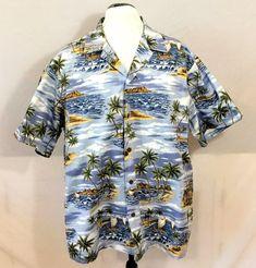 7bf0e7a3 RJC LTD Hawaiian Aloha Shirt 2XL Made in Hawaii Surf Board Tiki Hut Surfer  Palm #RJC #Hawaiian