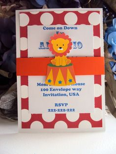 Circus Birthday Invitation Carnival Invitation by TooCuteInvites, $25.00